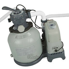 Intex Krystal Clear Sand Filter Pump & Saltwater System 24' Pool 1600gph 28675EG