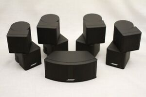5x Bose Jewel Cube Speakers (Black) Incl. Center!