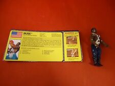 Balrog Street Fighter II Hasbro GI Joe Toy Action Figure w/ Cutout Info Card!