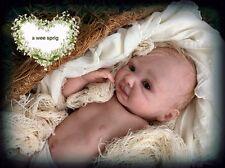 "Reborn Girl Doll~Emma~10"" Micro Preemie Baby~Tummy Plate~OOAK~A Wee Sprig"