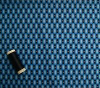 BLUE GEOMETRIC PRINT 100% Cotton Lawn Fabric * Dressmaking * Craft * 148cm Wide