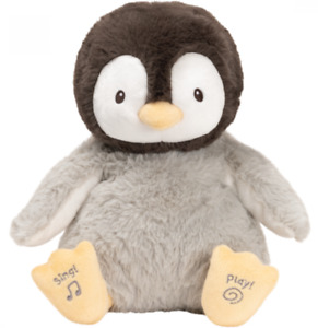 ~❤️~GUND Sweet Sounds KISSY PENGUIN Animated Kissing Musical Baby Soft Toy~❤️~