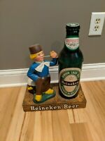Vintage Heineken Beer Sign Dutch Figure Sign Display Statue
