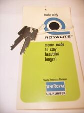 ROYALITE Vintage Case Key ~Unknown Model Excellent  Replacement TYPEWRITER CASE
