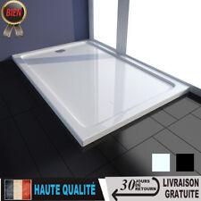 Receveur de douche Blanc/Noir Receveur de douche à poser avec taille au choix