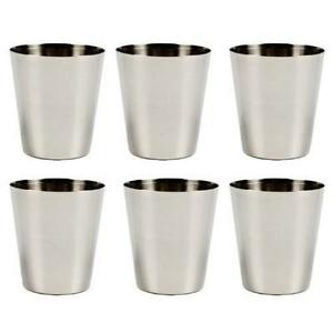 6 Pack Stainless Steel Shot Glass Glasses 1 fl oz 30ml Set of 6 New