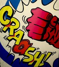 "Crash - John Matos ""CRAASH! FIST"" Exquisitely Framed Silkscreen Graffiti"