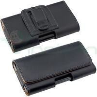 Custodia Clip Cintura NERA interni Marroni per Samsung Galaxy S6 G920F CT7
