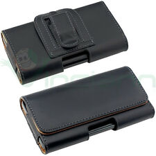 Custodia Clip Cintura NERA interni Marroni per iPhone 6 6S 4.7 Plus 5.5 CT7