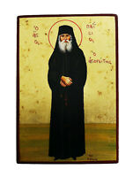 Greek Russian Orthodox Lithography Icon St. Paisios 01 Standing 19x13cm