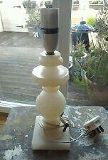 VINTAGE ANTIQUE MARBLE TABLE LAMP BASE