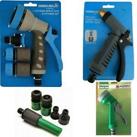 Hose Pipe Fittings Nozzle Connector Water Spray Gun Set Outdoor Garden Fittings