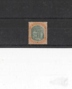 ST KITTS-NEVIS , 1905, SG18 TYPE 2 3d DEEP GREEN AND ORANGE, MH      CV £45.00+