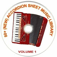 80+ SONGS! - HUGE VINTAGE ACCORDION SHEET MUSIC COLLECTION! - CD#1 of 10