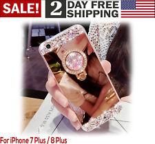 iPhone7 Plus 8 Plus Case Luxury Bling Diamond Crystal Ring Holder Stand Kickstan