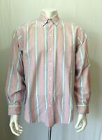 J. Crew Men's Size Medium Long Sleeve Striped Button Down Cotton Casual Shirt