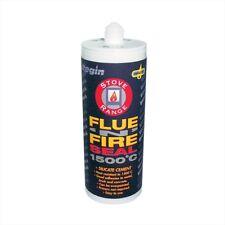 Silicate Cement Flue Seal Silicone 1500°C Fire Proof Sealant, Stove - Black