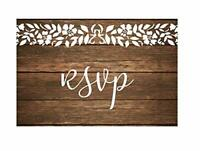 20 RSVP Post Cards for wedding Invitation Response Rustic White Lace Postcards