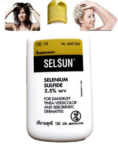 Selsun Anti Dandruff Hair Shampoo Selenium Sulfide 2.5% 120 ml.