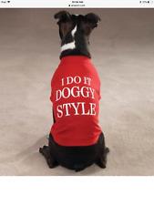 Zack & Zoey Medium Dog Tee Shirt - - Attitude Collection - I Do It Doggy Style