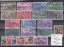 ITALIA 1948-TRIESTE A  ANNATA COMPLETA 21 VALORI USATI SELEZIONATI E SPLENDIDI