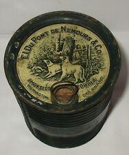 Antique 1893 E.I. DuPont De Nemours Hunting Smokeless Shotgun Gunpowder Tin