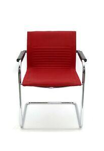 Art Collection Konferenzstuhl - Besucherstuhl - gebraucht - Stoff rot