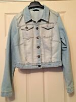Ladies Blue Denim Jacket Long Sleeve Asda George Size 12 Summer Beach B17