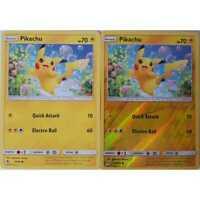 2er Set Pikachu 19/68 Common/ Reverse Holo - Hidden Fates - Englisch NM/Mint