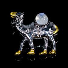 Fine Art Natural Moonstone 925 Sterling Silver Brooch /NB06553