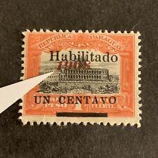 U4/41 Paraguay Stamp Scott 171 1c Overprint Shift Error MHROG Nice EFO Coll