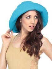 Fashion Summer Women Wide Brim Floppy Bohemia Cap Bucket Beach Sun Hat US Seller