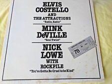 "ELVIS COSTELLO / MINK DEVILLE / NICK LOWE ""NOW SEE THEM LIVE"" RARE ORANGE VINYL!"