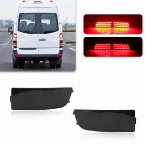 2x LED Black Rear Bumper Light Brake Stop Lamps For Benz Sprinter W906 2006-2020