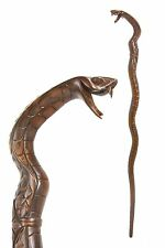 Snake Walking Stick/CANNE-Cobra Serpent-Hand Carved from East Indian Rosewood