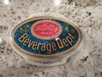 """Rare Vintage Falls City Beer Sign  """" Beverage Dept.""""  Foil Sign 1960s-70s"""