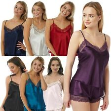 Ladies Satin & Lace Camisole Top With Adjustable Straps by Marlon