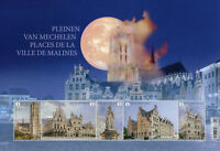 Belgium Architecture Stamps 2021 MNH Squares of Mechelen Tourism 5v M/S