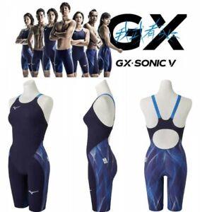 MIZUNO N2MG0202 FINA Women's Swimsuit M GX SONIC V MR Blue Fast Ship Japan EMS