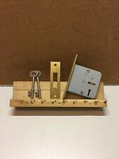 "Newhall 3Lever 3""/75mm Mortice Dead Door lock Brass Face and Plate 2 Keys"