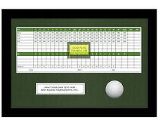 10x15 Black Golf Scorecard & Ball Frame, w/Green Mat; Holds approx 5x12 card
