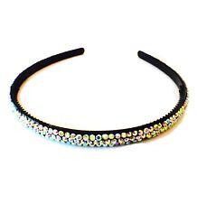 USA Handmade Headband Rhinestone Crystal Hairband Hairpin Bling Black AB A03