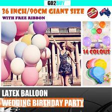"36""/90cm Large Circular Latex Balloon Wedding  Party Birthday Heliu 14 colors"