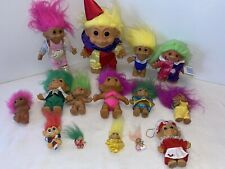 VINTAGE Troll Dolls Figure Lot Of 15 Mixed Sizes