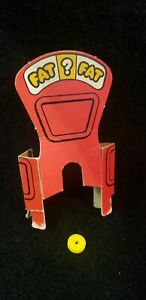 Vintage Fat Chance Board Game Pieces Parts Scale Cardboard Backdrop MB 1978