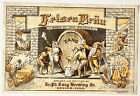 Vintage Pre-Pro Ph Zangs Felsen Brau Beer Label The Ph Zang Brewing Co Denver CO