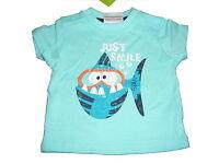 NEU Topolino tolles T-Shirt Gr. 56 hellblau mit witzigem Fisch Motiv !!