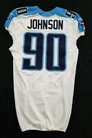 #90 Johnson of Tennessee Titans NFL Locker Room Game Issued Player Worn Jersey