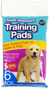 World of Pets Super Absorbent Premium Puppy Dog Training High Quality Pads 6 Pck