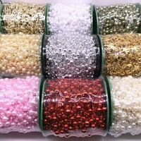 Beads Garland Artificial Chain Fishing Line Flowers Pearls Wedding Party Decor
